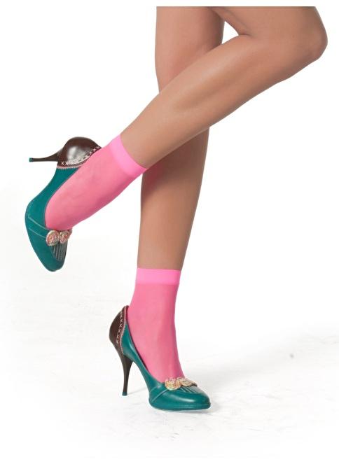 Pierre Cardin Parlak Soket Çorap Pembe